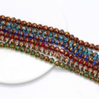 Kristall-Perlen, Kristall, goldfarben plattiert, DIY, mehrere Farben vorhanden, 8mm, ca. 42PCs/Strang, verkauft von Strang