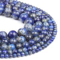 Lapislazuli Perlen, natürlicher Lapislazuli, rund, blau, 4x4x4mm, 98PC/Strang, verkauft von Strang