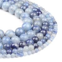 Aventurin Perlen, Blauer Aventurin, rund, blau, 4x4x4mm, 98PC/Strang, verkauft von Strang