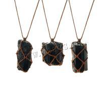 Pullover Kette Halskette, Naturstein, unisex, schwarz, frei von Nickel, Blei & Kadmium, Länge:ca. 37.4 ZollInch, verkauft von Tasche