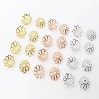 Messing Perlenkappe, Blume, plattiert, DIY & verschiedene Größen vorhanden & hohl, keine, 200PCs/Menge, verkauft von Menge