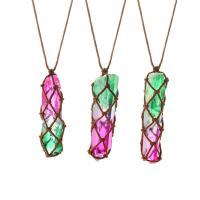 Pullover Kette Halskette, Naturstein, unisex, farbenfroh, verkauft per ca. 37.4 ZollInch Strang