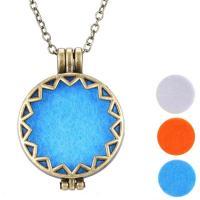 Parfüm Medaillon Halskette, Zinklegierung, gemischte Farben, verkauft von PC