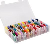 Sewing Thread, Polyester und Baumwolle, DIY, gemischte Farben, 195x130x4mm, 50PCs/Box, verkauft von Box