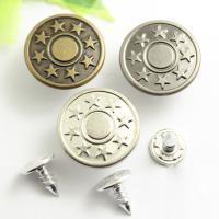 Messing Knöpfe, DIY & mit einem Muster von Stern, keine, frei von Nickel, Blei & Kadmium, 17x8.40mm, verkauft von PC