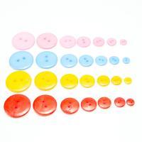 Acryl Zweilochknöpfe, rund, DIY & verschiedene Größen vorhanden, keine, verkauft von Tasche