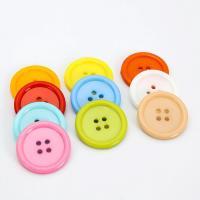 Acryl Vierlochknöpfe, rund, DIY & verschiedene Größen vorhanden, gemischte Farben, verkauft von Tasche