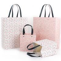 Mode Geschenkbeutel, Papier, Rechteck, Kunstdruck, verschiedene Stile für Wahl & mit Blumenmuster, 50PCs/Menge, verkauft von Menge