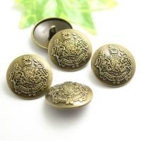 Zinklegierung Ösenknöpfe, rund, geschnitzt, verschiedene Größen vorhanden, antike Bronzefarbe, frei von Nickel, Blei & Kadmium, verkauft von PC