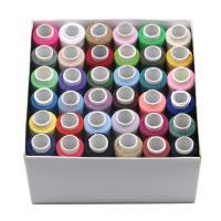 Polyester Näh-Set, gemischte Farben, 110x110x60mm, 3BoxenFeld/Menge, 36Spulen/Box, verkauft von Menge