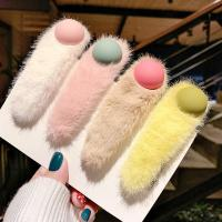 Klick Klack Spange, Plüsch, mit Zinklegierung, verschiedene Stile für Wahl & für Frau, keine, 99mm, 2PCs/Menge, verkauft von Menge