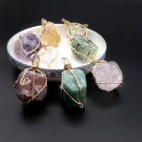 Natürlicher Quarz Perlen Schmuck, handgemacht, verschiedenen Materialien für die Wahl, keine, (20~30)*(25~35)mm, verkauft von PC