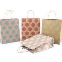 Mode Geschenkbeutel, Kraftpapier, Rechteck, verschiedene Größen vorhanden & mit Muster von runden Punkten, gemischte Farben, 50PCs/Menge, verkauft von Menge