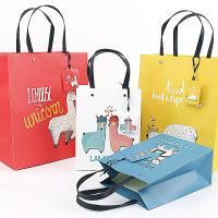 Mode Geschenkbeutel, Papier, Rechteck, Kunstdruck, gemischtes Muster, 320x115x420mm, 50PCs/Menge, verkauft von Menge