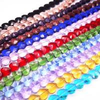 Mode Glasperlen, Glas, Herz, DIY & verschiedene Größen vorhanden, keine, Bohrung:ca. 1-1.2mm, verkauft von PC