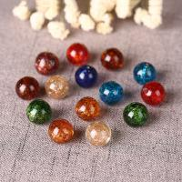 Goldsand Lampwork Perlen, rund, handgemacht, DIY & verschiedene Größen vorhanden, keine, verkauft von PC