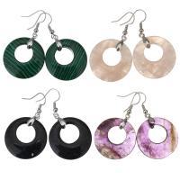 Edelstein Ohrringe, Messing, mit Edelstein, für Frau, keine, frei von Nickel, Blei & Kadmium, 50mm,28mm, verkauft von Paar
