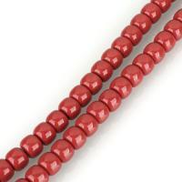 Natürliche Korallen Perlen, Koralle, rund, poliert, DIY, rote Orange, 11x13.50x13.50mm, Bohrung:ca. 1mm, ca. 81PCs/Strang, verkauft per ca. 35 ZollInch Strang
