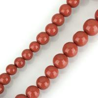 Natürliche Korallen Perlen, Koralle, rund, poliert, DIY, rote Orange, 12-17mm, Bohrung:ca. 1mm, Länge:ca. 17 ZollInch, verkauft von kg