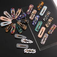 Schnabelspange, Acetat-Blatt, verschiedene Stile für Wahl & für Frau & hohl, keine, 65x22mm, 10PCs/Menge, verkauft von Menge