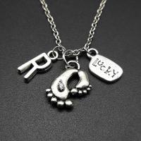 Unisex Halskette, Metallisches Legieren, Fuß, plattiert, Silberfarbe, 2100mm, verkauft von PC
