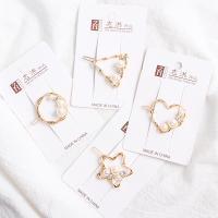 Haarspange, Metallisches Legieren, mit Kunststoff Perlen, plattiert, für Frau, keine, 50x35mm, verkauft von PC