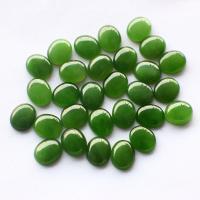 Edelstein Cabochons, Jaspis Stein, poliert, DIY, grün, 8x10mm, verkauft von PC
