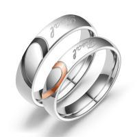 Ehepaar Fingerringe, Titanstahl, Kreisring, verschiedene Größen vorhanden & verschiedene Stile für Wahl, keine, 4.60mm, verkauft von PC