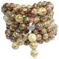 Handgelenk Mala, Bodhi Wurzel, rund, poliert, verschiedene Muster für Wahl, keine, 12mm, ca. 108PCs/Strang, verkauft von Strang
