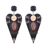 Harz Ohrring, Blatt, für Frau, keine, 80mm, verkauft von Paar