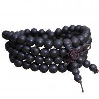 Handgelenk Mala, Aloewood, rund, verschiedene Größen vorhanden, originale Farbe, 108PCs/Strang, verkauft von Strang