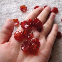 Roter Achat Perlkappen, Blume, DIY, 16mm, verkauft von PC