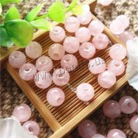 Natürliche Rosenquarz Perlen, rund, poliert, DIY, 10mm, Bohrung:ca. 3mm, verkauft von PC