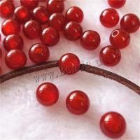 Natürlich rote Achat Perlen, Roter Achat, rund, poliert, DIY, 10mm, Bohrung:ca. 3mm, verkauft von PC