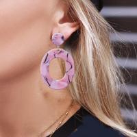 Harz Ohrring, Zinklegierung, mit Harz, für Frau, keine, verkauft von Paar