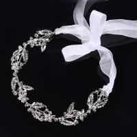 Braut Haarband, Zinklegierung, plattiert, für Frau, weiß, frei von Nickel, Blei & Kadmium, 40x340mm, verkauft von PC