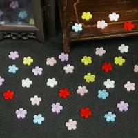 Haarstock-Befunde, Acetat-Blatt, mit Acryl, Blume, DIY, keine, 10x10mm, Innendurchmesser:ca. 2mm, verkauft von PC