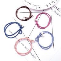 Pferdeschwanz-Halter, Stoff, mit Kunststoff Perlen, elastisch & Bowknotentwurf & für Frau, keine, 45mm, verkauft von PC