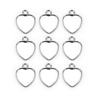 Edelstahl Cabochon Einstellung, Herz, plattiert, DIY, 12x12mm, 50PCs/Tasche, verkauft von Tasche