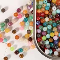 Acryl Schmuck Perlen, rund, DIY, keine, 6mm, Bohrung:ca. 1.3mm, 100PCs/Tasche, verkauft von Tasche