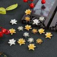 Messing Perlenkappe, Blume, DIY & verschiedene Stile für Wahl, keine, verkauft von PC