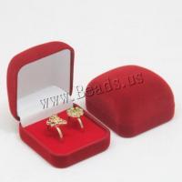 Beflockung Stoff Geschenkkarton, Quadrat, keine, 58.20x53.20x35.40mm, 10PCs/Menge, verkauft von Menge