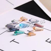 Mode Glasperlen, Glas, Tropfen, plattiert, DIY & verschiedene Größen vorhanden, keine, 10PCs/Tasche, verkauft von Tasche