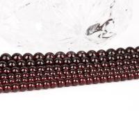Natürlicher Granat Perlen, rund, DIY & verschiedene Größen vorhanden, Wein rot, verkauft von Tasche
