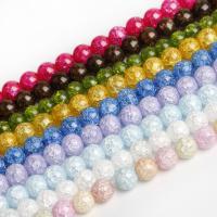 Kristall-Perlen, Kristall, rund, DIY & verschiedene Größen vorhanden & Knistern, mehrere Farben vorhanden, Bohrung:ca. 1mm, verkauft von Tasche