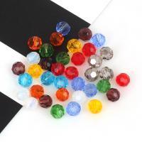Mode Glasperlen, Glas, Vieleck, plattiert, DIY & facettierte, keine, 6mm, ca. 100PCs/Strang, verkauft von Strang