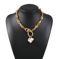 Plastik-Perlenkette, Zinklegierung, mit Kunststoff Perlen, plattiert, unisex, frei von Nickel, Blei & Kadmium, verkauft per 18.5 ZollInch Strang
