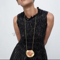 Zeit Gem Jewelry Halskette, Zinklegierung, mit SteinKorn, plattiert, für Frau, frei von Nickel, Blei & Kadmium, 60x70mm, verkauft per 31.8 ZollInch Strang