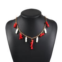 Harz Halskette, Zinklegierung, mit Harz, plattiert, für Frau, frei von Nickel, Blei & Kadmium, verkauft per 18.3 ZollInch Strang