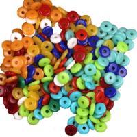 Acryl Zwischenperlen, flache Runde, poliert, Nachahmung Bienenwachs & DIY & verschiedene Größen vorhanden, keine, 10000PCs/Tasche, verkauft von Tasche